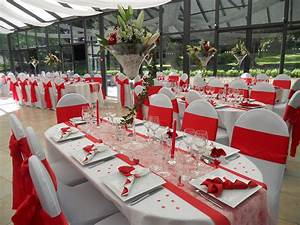 Décoration Mariage Rouge Et Blanc : decoration mariage en rouge et blanc ~ Melissatoandfro.com Idées de Décoration