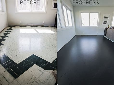 PAINTING THE LIVING ROOM FLOOR TILES: PART I   Our Home
