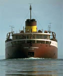 edmund fitzgerald great lakes and shipwreck on