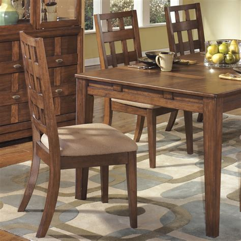 furniture cozy dining room with brown rustic walnut wood