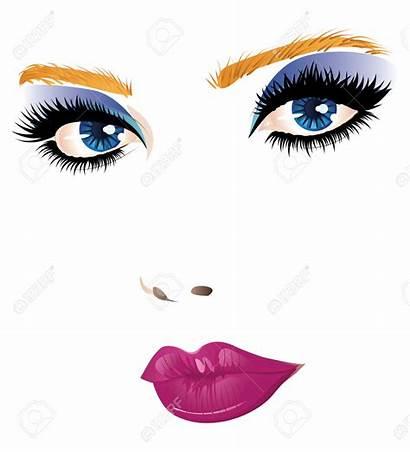 Clipart Makeup Face Beauty Woman Eyes Eye
