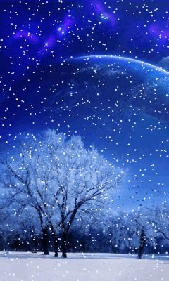 Animated Winter Wallpaper - animated 240x400 171 winter moon 187 cell phone