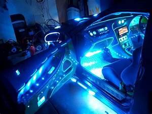 Blue 12 U0026quot  Car Interior Neon Lights  Two  2  12 Inch  30cm