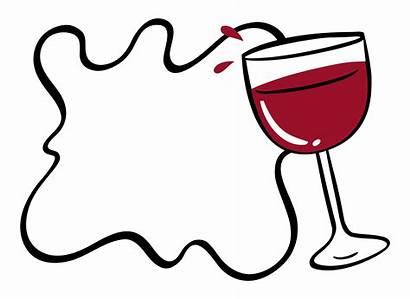 Wine Border Glass Vector Template Cartoon Illustration