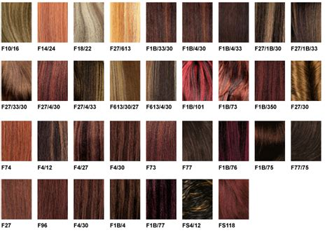 braiding hair color chart zury color charts