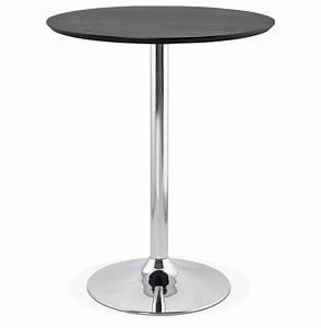 Table Haute Noire : mange debout lima noire 90 cm table haute design ~ Teatrodelosmanantiales.com Idées de Décoration