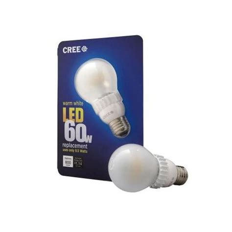 cree 60w warm white dimmable led light bulb green tips