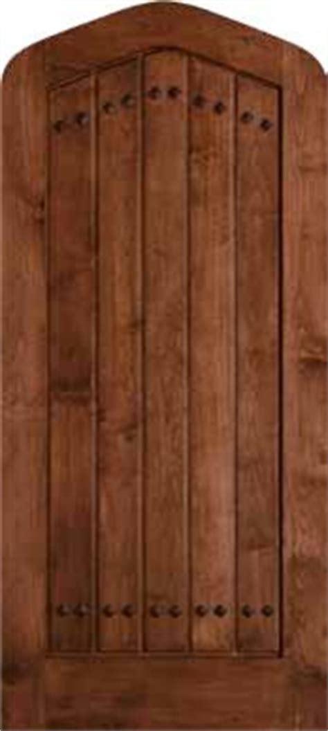 jeld wen  clear alder tudor door cherry finish gothic