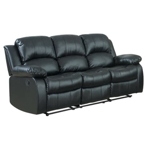 oversized leather reclining sofa classic oversize and overstuffed 3 seat bonded leather