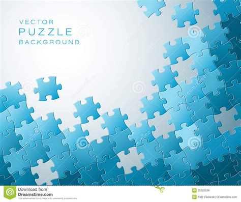 vector background   blue puzzle pieces royalty