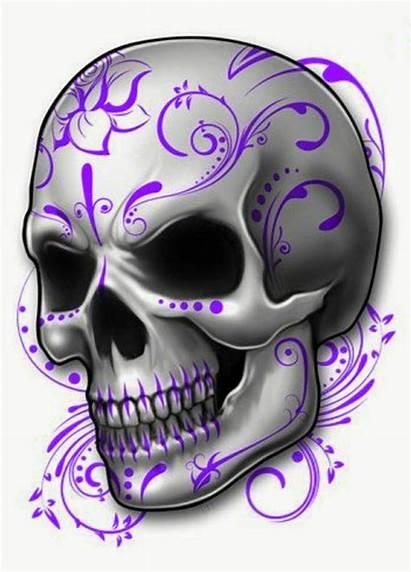 Skull Tattoos Tattoo Purple Skulls Cool Sugar