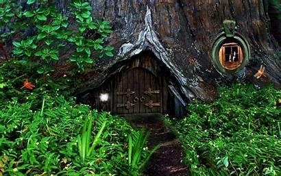 Hobbit Forest Wallpapers Abandoned Wide Desktop Houses