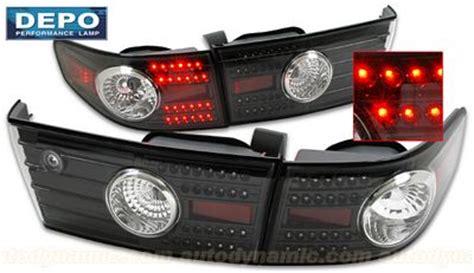 honda accord sedan 2003 2005 depo black led lights
