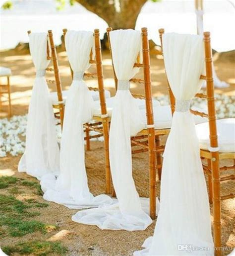wedding chair sash buckles 2017 white beige wedding chair sashes with buckle