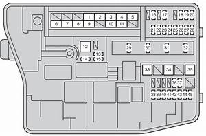 Toyota Auris  2006 - 2012  - Fuse Box Diagram