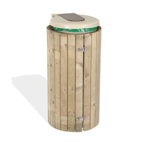 poubelle en bois cuisine supports de sac poubelle pour tri sélectif et collectivité
