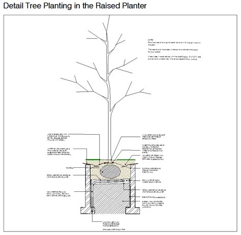 landscape detail drawings drawing rc4 detail planter png 924 215 901 green spaces pinterest