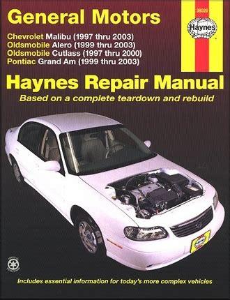 motor auto repair manual 2003 oldsmobile silhouette on board diagnostic system alero cutlass grand am repair manual 1997 2003 haynes
