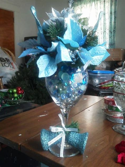 interesting diy wine glass centerpieces