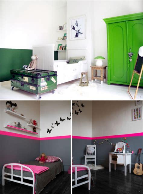 2 couleurs dans une chambre peindre le mur en 2 couleurs