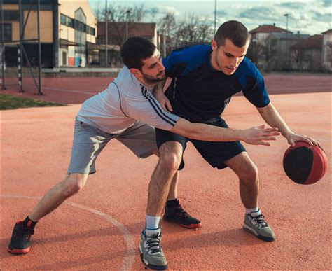 Two Basketball Players Playing Basketball Discovery Eye