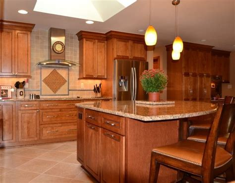 kitchen cupboards designs maple praline cabinets merillat masterpiece fairlane maple 1049