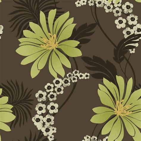 tahiti wallpaper limechocolate  floral