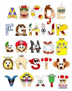 Super Mario Alphabet by mbaboon on DeviantArt