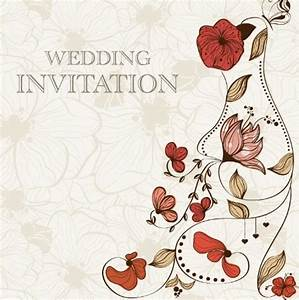 free vintage wedding invitation card with floral With wedding invitation email background free download