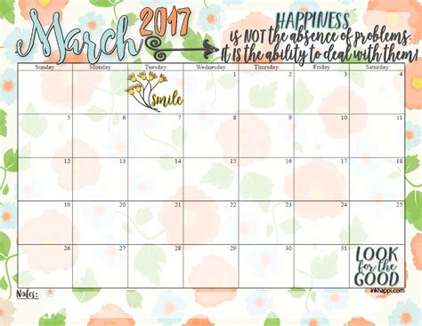 printables march  calendar  coordinating