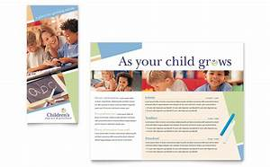 child care preschool brochure template word publisher With nursery brochure templates free