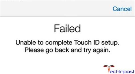 iphone touch id stopped working fixed failed unable to complete touch id setup go