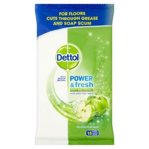 Dettol Floor cleaning wipes, pack of 15   Departments