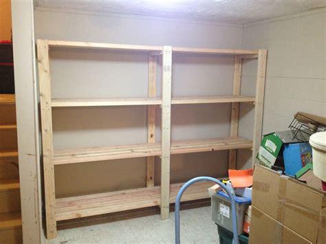 garage shelves built  basement storage ana white