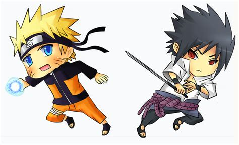 Naruto Vs Sasuke Chibi By Kite-k On Deviantart