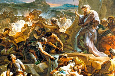 moses rock biblical three struck striking story faiths revered usnews