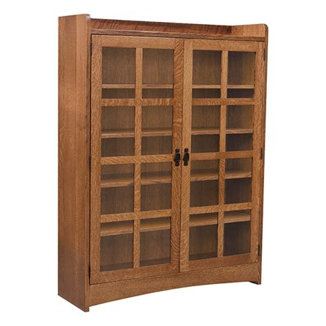 Mission Bookcase Glass Doors by Mission Bookcase W Glass Doors Bookcases Barn Furniture
