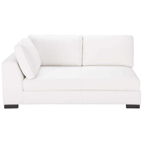 canapé convertible pouf canapé convertible modulable gauche en cuir blanc terence