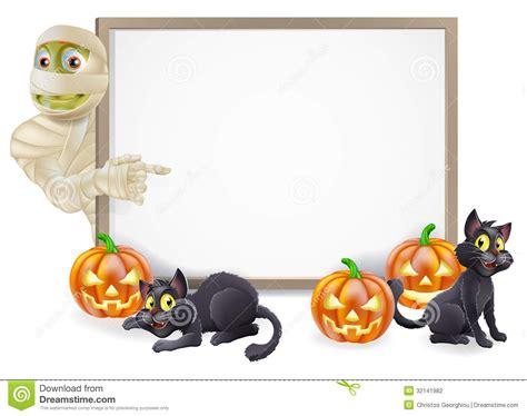 halloween mummy sign stock photography image