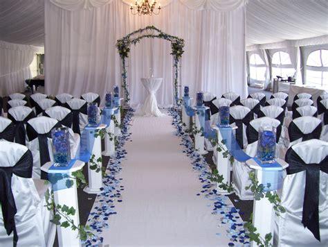 Love The Blue Petals Down A White Aisle Royal Blue