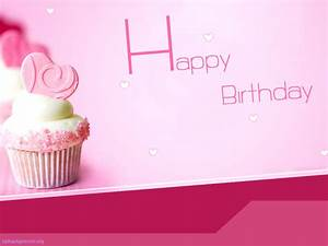 Free Pink Happy Birthday With Cake Backgrounds For
