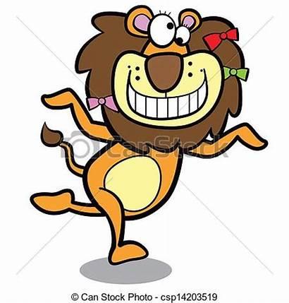 Lion Clipart Humor Running Cartoon Background Clip