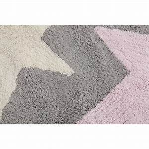 tapis 3 etoiles gris rose lorena canals With tapis gris et rose