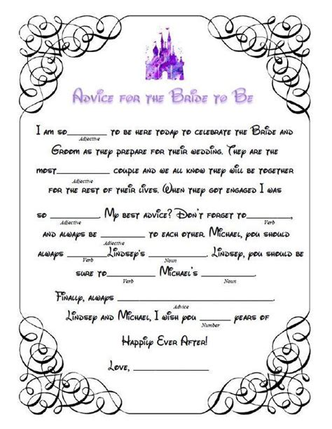 bridal shower mad libs   ultimate pre wedding fun