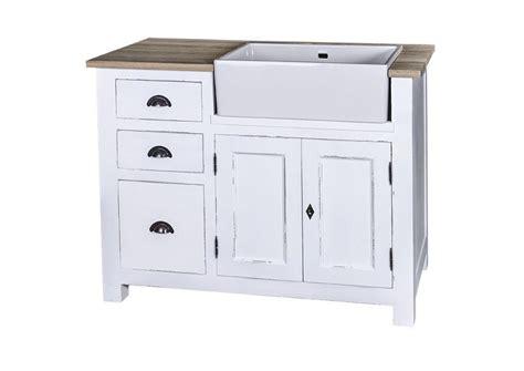 meuble cuisine blanc acheter votre meuble de cuisine en pin massif avec évier