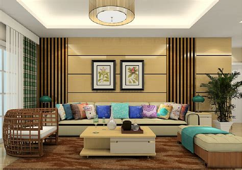 30 Designs For Walls Of Living Room, Living Room