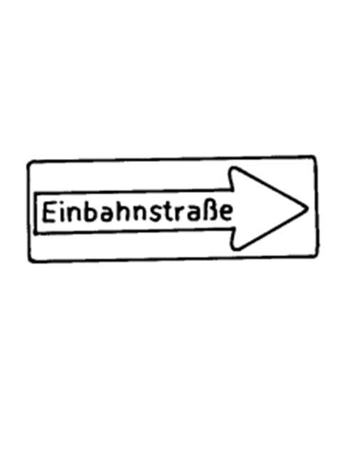 verkehrszeichen einbahnstrasse ausmalbild malvorlage