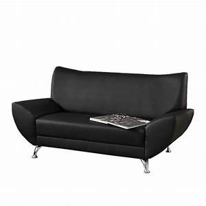 Kunstleder Couch Schwarz : sofa benevento 2 sitzer sofa home24 ~ Watch28wear.com Haus und Dekorationen