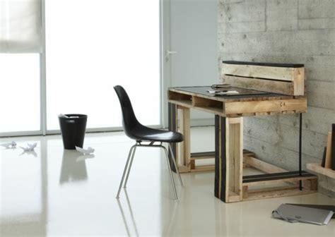 deco bureau travail meubles en palettes le bois recyclable pour votre confort