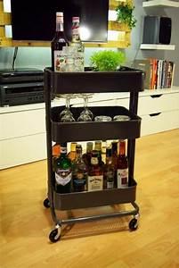 Minibar Für Wohnzimmer : ikea raskog wagen kann als mini bar verwendet werden gute ideen in 2019 pinterest ~ Orissabook.com Haus und Dekorationen